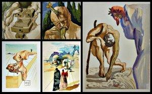 Gravuras de A Divina Comédia. Salvador Dalí