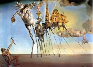 A Tentação de Santo Antônio. Salvador Dalí.