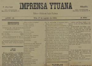 Exemplar do Imprensa Ytuana.