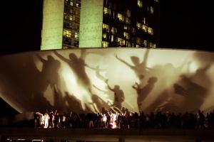 Uma das tantas manifestações ocorridas em junho e julho de 2013. Destaque para a tomada do Congresso em Brasília