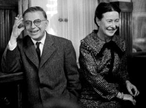 Jean-Paul Sartre e Simone de Beauvoir. Foto: http://static.animalpolitico.com/wp-content/uploads/2011/10/Sartre-y-Simone-de-Beauvoir-2.jpg