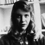A poeta e romancista Sylvia Plath