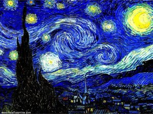 A Noite Estrelada. V. Van Gogh.