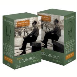 Caixa reúne 23 livros de Drummond