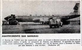 Sequestro do Boeing em jornal da época.