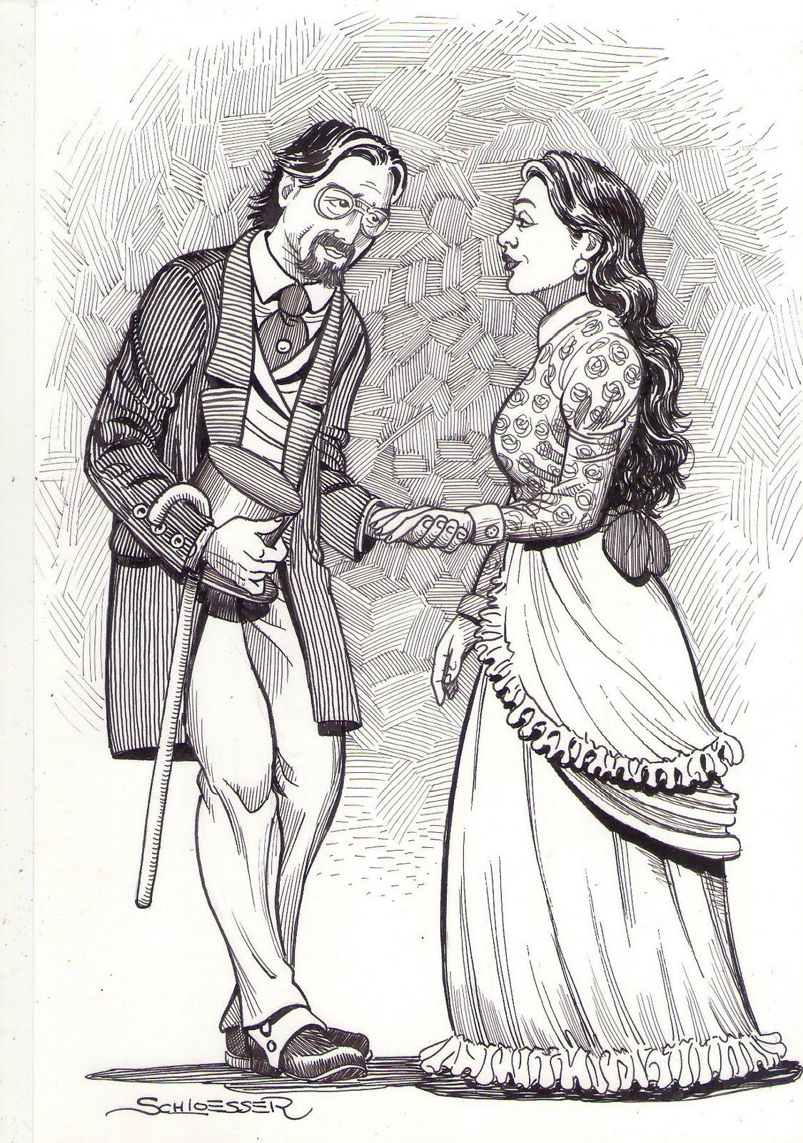 Rubião e Sofia, por Eduardo Schloesser, 2011.