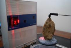 Digitalização de um machado de mão Acheulense (imagem cortesia VCU)