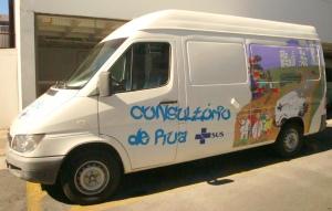 Van do projeto em Caxias do Sul.