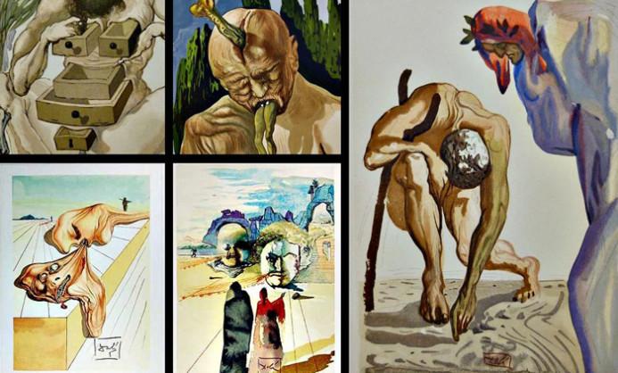 Divina Comédia, por Salvador Dalí (Foto: Divulgação)
