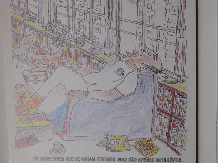 Arte de Millôr Fernandes  na Casa do IMS (Foto: Livre Opinião)