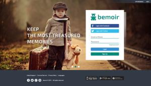 A página do Bemoir. Dentre os símbolos mais comuns da infância, o ursinho de pelúcia tornou-se a marca do site.
