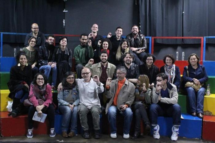 Convidados e organizadores da primeira edição do Festival Gaveta Livre