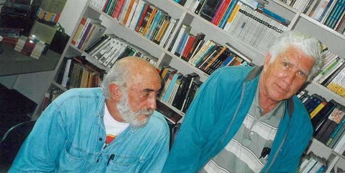 Os escritores Jamil Snege e Valêncio Xavier