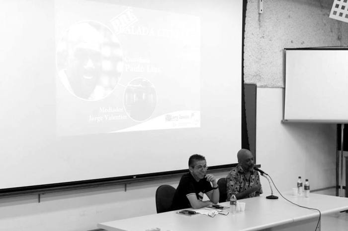 Paulo Lins e Jorge Valentim em bate-papo na UFSCar