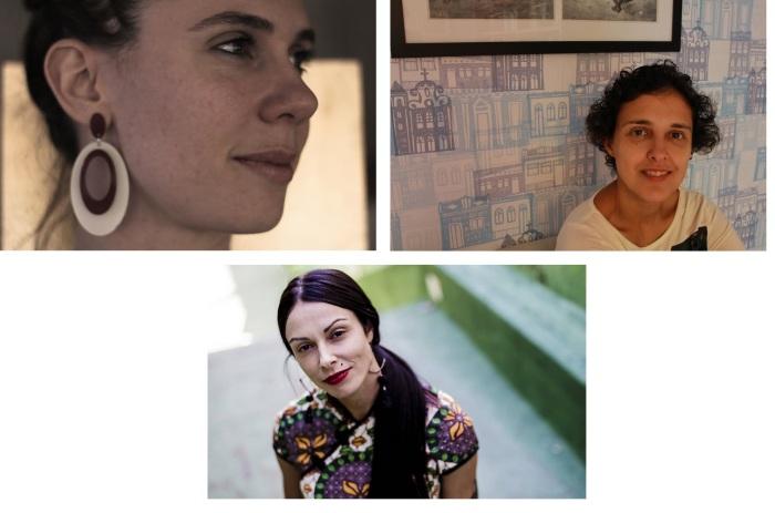 Da esq. para dir.: Anna Zêpa, Paula Fábrio e Marina Filizola