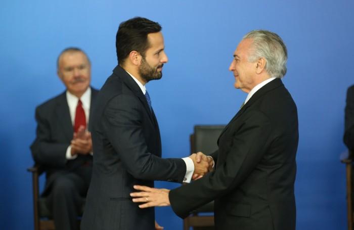 Marcelo Calero e Michel Temer
