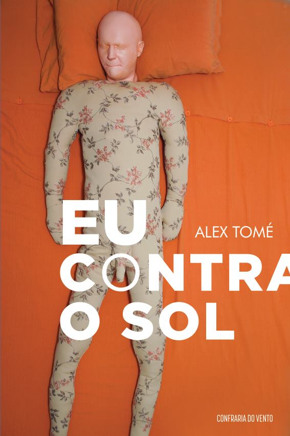 """Capa do livro """"Eu contra o sol"""". A capa foi feita a partir de uma obra do artista espanhol Jorge Varela."""