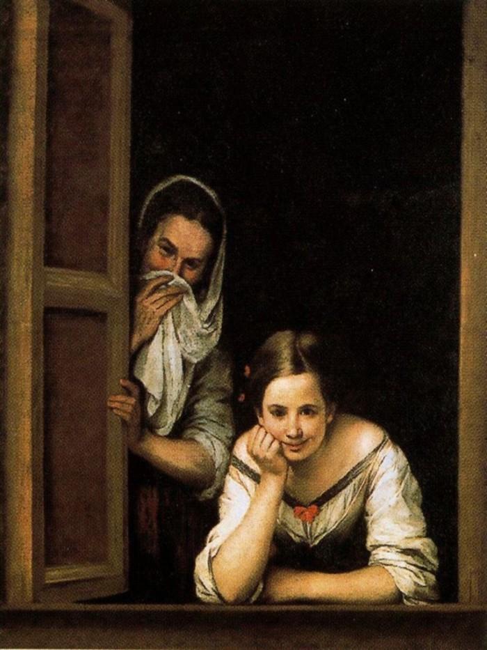 Duas Mulheres na janela (Bartolomé Esteban Murillo, 1670)