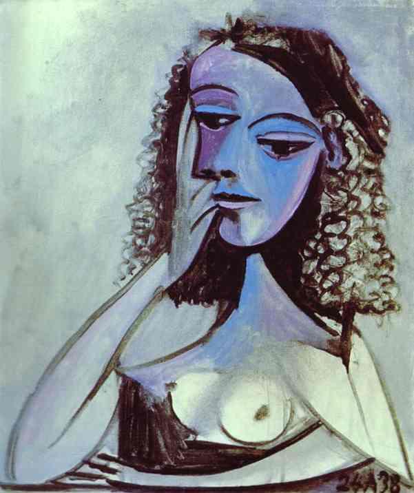 Portrait of Nusch Éluard, de Pablo Picasso, 1938.