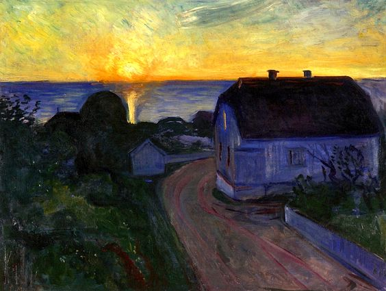 Sunrise in Asgardstrand - Edvard Munch