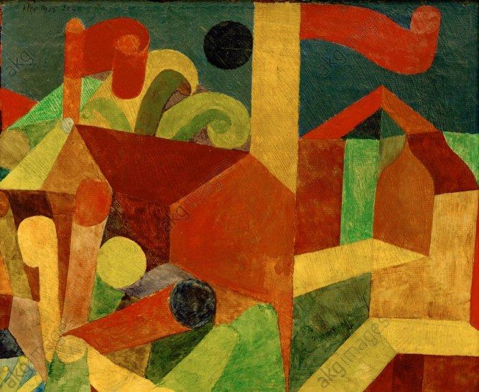 Landschaft mit Fahnen, de Paul Klee
