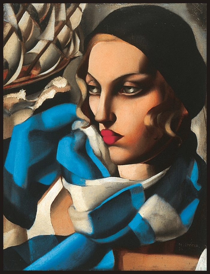 'The Blue Scarf' - Tamara de Lempicka