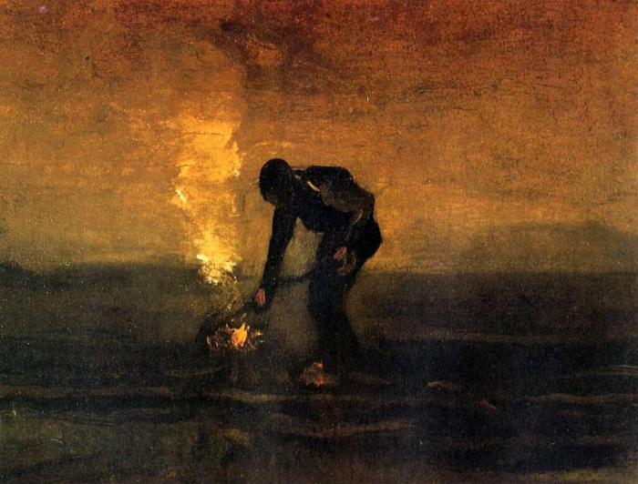 Peasant Burning Weeds, de Vincent van Gogh
