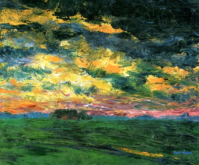 Ruffled Autumn Clouds , de Emil Nolde (1927)