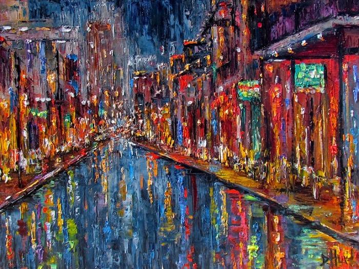New Orleans, pintura de Debra Hurd