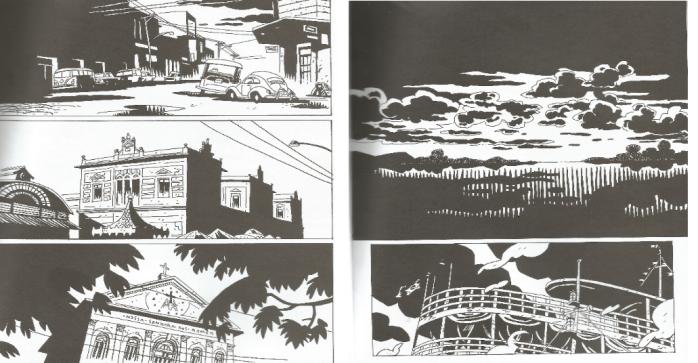 Imagem da adaptação do livro Dois Irmãos em quadrinhos, por Fábio Moon e Gabriel Bá (Companhia das Letras, 2015)